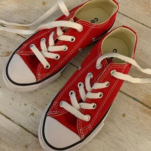 Toddler Converse Shoes, Red, Size 11, Unisex